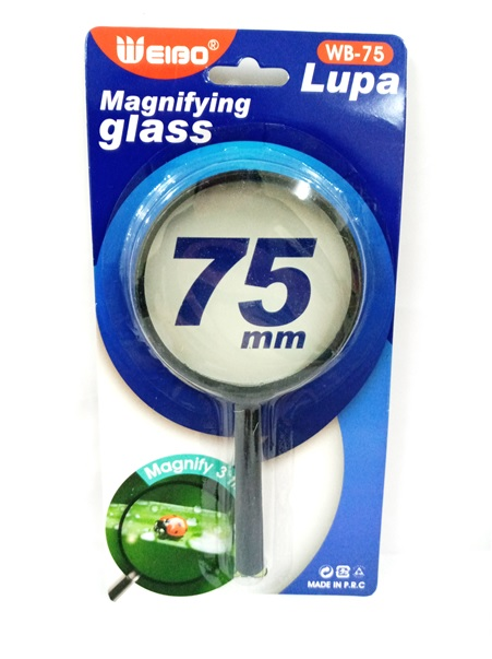 1PC MAGNIFYING GLASS 75MM WB75MM