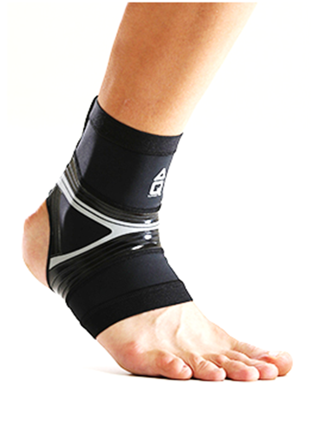 AQ-FLOATING RUN COMPRESSION ANKLE SLEEVE-BLACK (R20604)