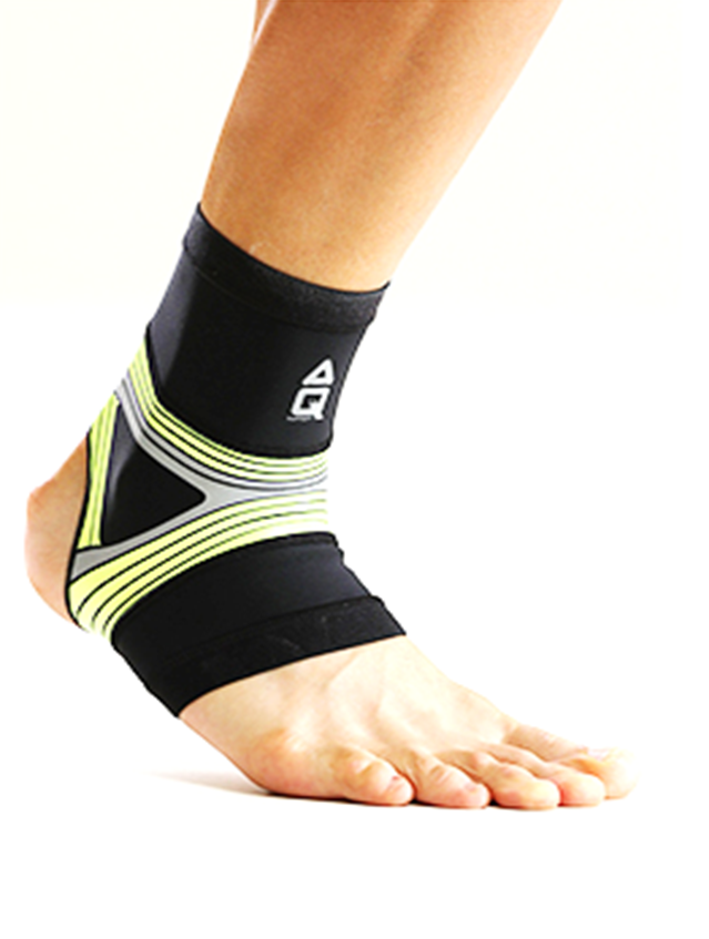 AQ-FLOATING RUN COMPRESSION ANKLE SLEEVE-GREEN (R20605)