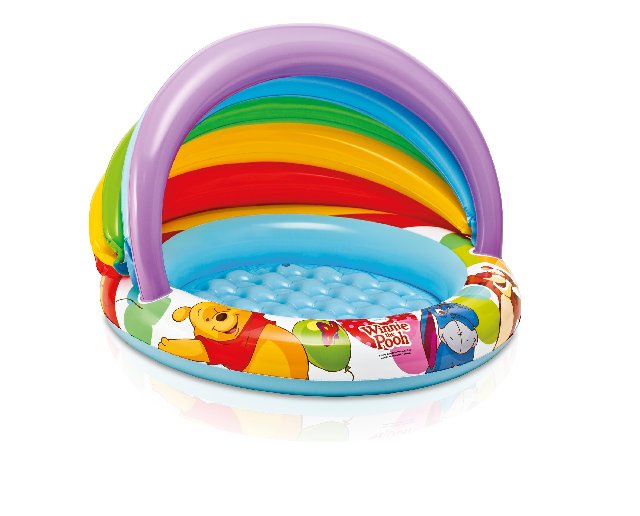 INTEX-WINNIE THE POOH 40INCHX27INCH BABY POOL,Ages 1-3,57424NP