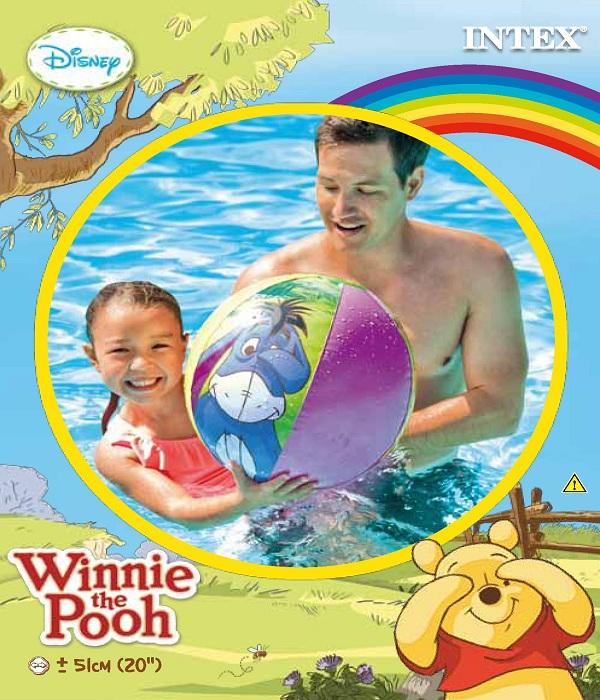 INTEX-WINNIE THE POOH 20INCH BEACH BALL,Ages 3+,58025NP