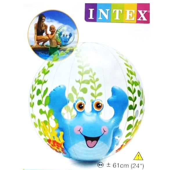 INTEX-24 INCH AQUARIUM BEACH BALLS,Ages 3+,Peg Box,58031NP