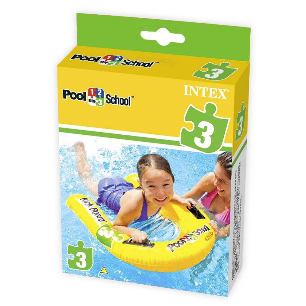 INTEX-31 INCHx30 INCH KICKBOARD POOL SCHOOLTM  STEP 3, Ages 3+,58167EU