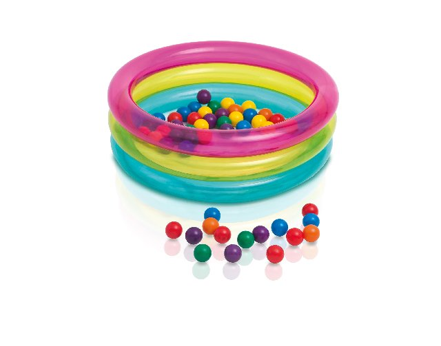INTEX-34 INCH X10 INCH CLASSIC 3-RING BABY BALL PIT,Ages 1-3,48674NP