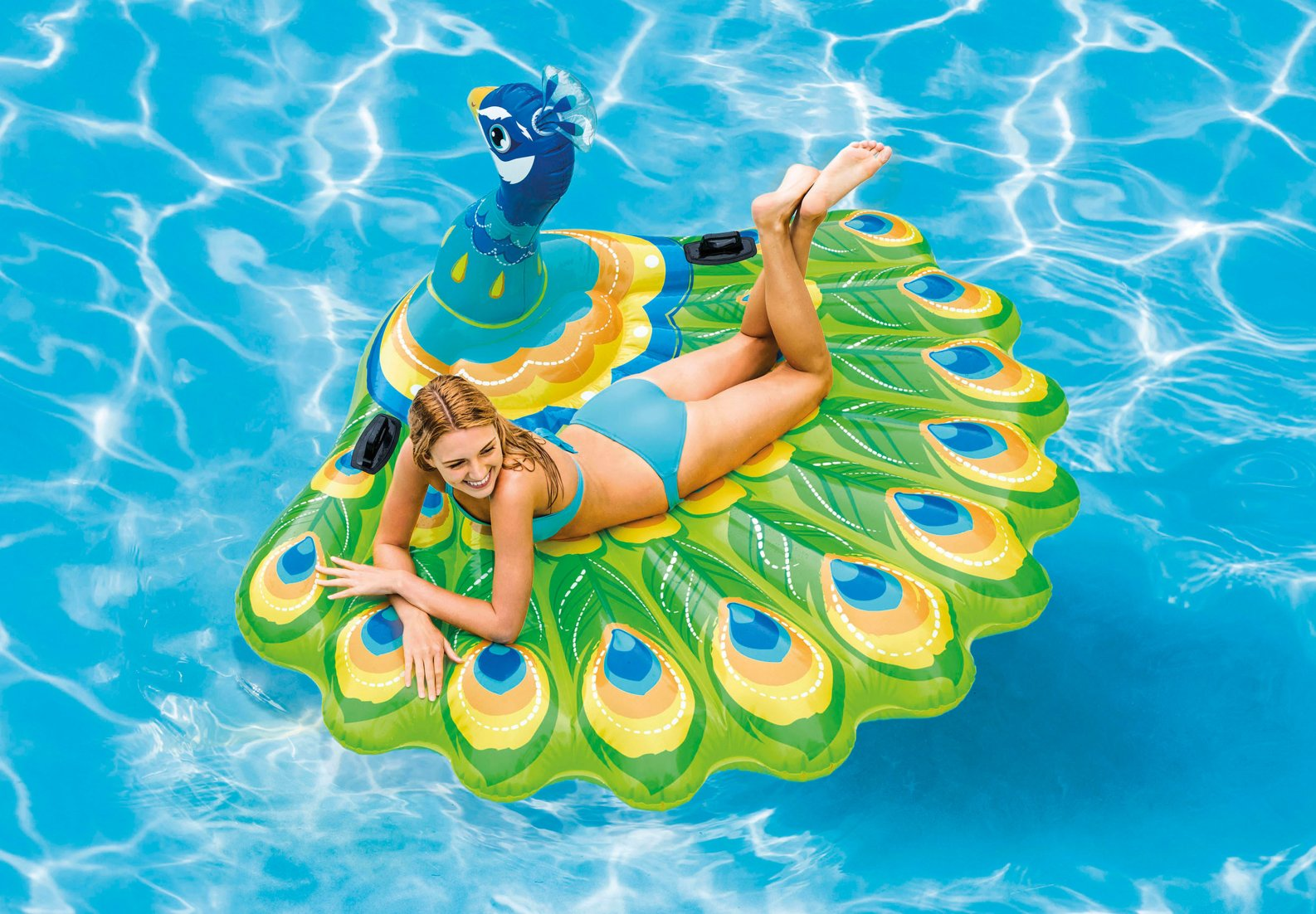INTEX-76 INCHX64 INCHX37 INCH PEACOCK ISLAND, Ages 6+ (57250EU)